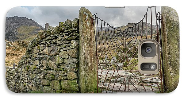 Galaxy Case featuring the photograph Decorative Gate Snowdonia by Adrian Evans
