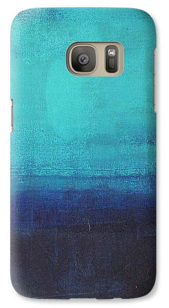 Galaxy Case featuring the painting Deep Blue Sea by Nicole Nadeau