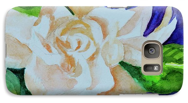 Galaxy Case featuring the painting Deep Gardenia by Beverley Harper Tinsley