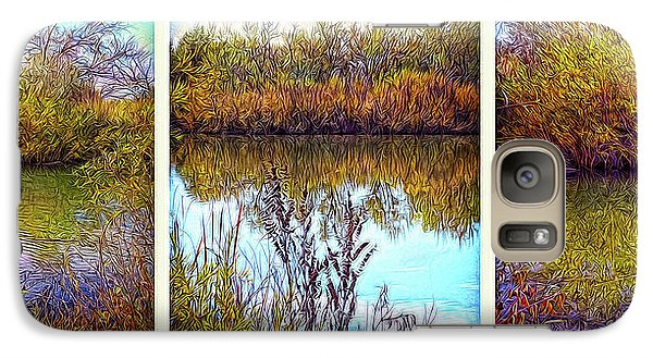Deep Lake Reflections - Triptych Galaxy S7 Case