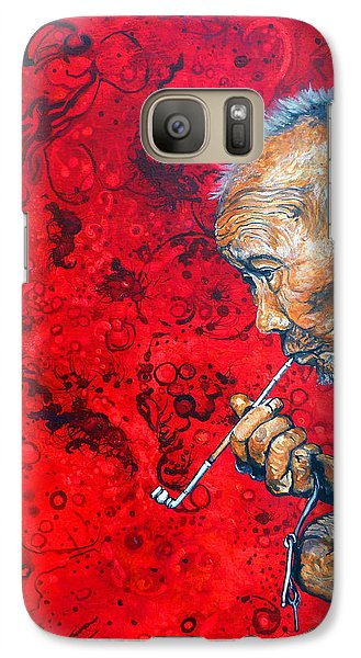 Galaxy Case featuring the painting Deep Thoughts by Tom Roderick