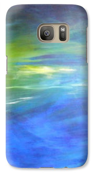 Galaxy Case featuring the painting Deeper And Deeper by Mary Sullivan