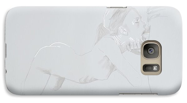 Galaxy Case featuring the mixed media Deepthroat by TortureLord Art