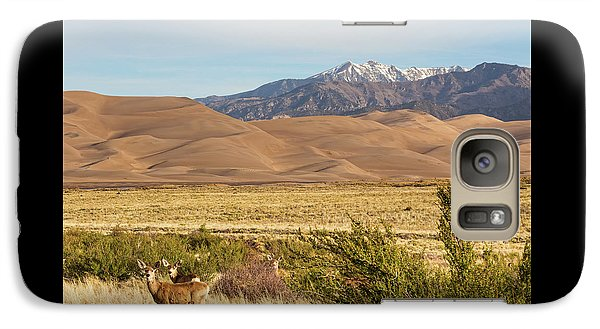 Galaxy Case featuring the photograph Deer And The Colorado Sand Dunes by James BO Insogna