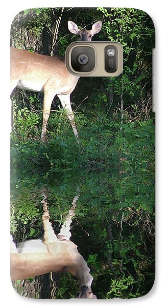 Galaxy Case featuring the photograph Deer At Dusk by Rick Friedle