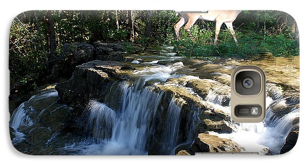 Galaxy Case featuring the photograph Deer At The Falls by Rick Friedle