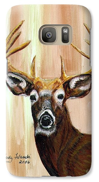 Galaxy Case featuring the painting Deer Head by Judy Filarecki