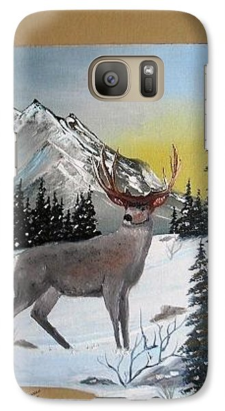 Galaxy Case featuring the painting Deer Hunter's Dream by Al  Johannessen