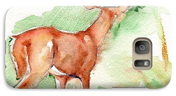 Deer Painting In Watercolor Galaxy S7 Case
