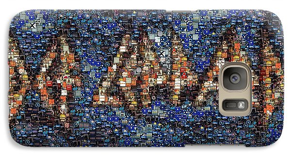 Def Leppard Galaxy S7 Case - Def Leppard Albums Mosaic by Paul Van Scott