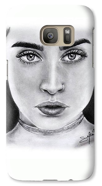Galaxy S7 Case - Lauren Jauregui Drawing By Sofia Furniel  by Jul V
