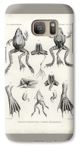 Galaxy Case featuring the drawing Deformed Frogs - Historic by Joseph Huet