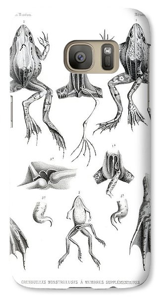 Galaxy Case featuring the drawing Deformed Frogs by Joseph Huet