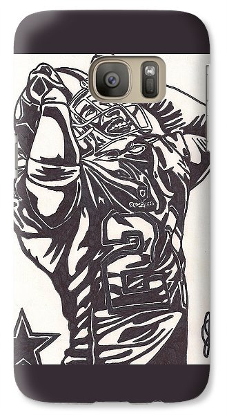Galaxy Case featuring the drawing Deion Sanders by Jeremiah Colley