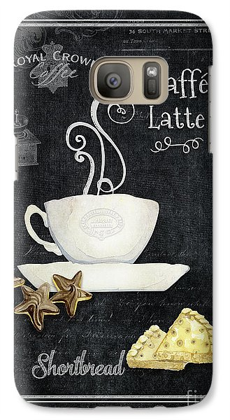 Galaxy Case featuring the painting Deja Brew Chalkboard Coffee 2 Caffe Latte Shortbread Chocolate Cookies by Audrey Jeanne Roberts