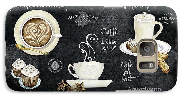 Galaxy Case featuring the painting Deja Brew Chalkboard Coffee Cappuccino Mocha Caffe Latte by Audrey Jeanne Roberts