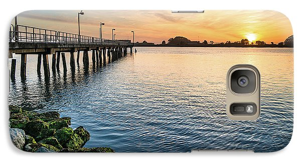 Galaxy Case featuring the photograph Del Norte Pier And Spring Sunset by Greg Nyquist