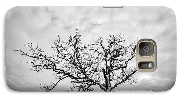 Galaxy Case featuring the photograph Delaware Park Winter Oak by Chris Bordeleau
