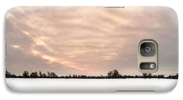 Galaxy Case featuring the photograph Delaware Park Winter Solace by Chris Bordeleau