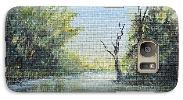 Galaxy Case featuring the painting Delaware River  by Luczay