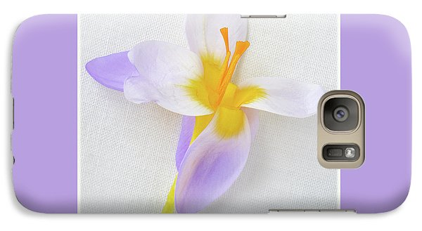 Galaxy Case featuring the photograph Delicate Art Of Crocus by Terence Davis