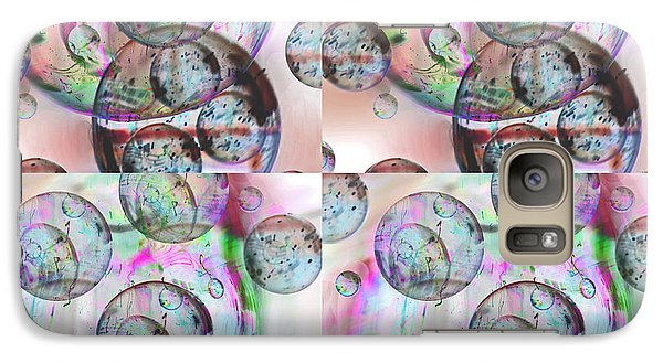 Galaxy Case featuring the photograph Delicate Bubbles by Nareeta Martin