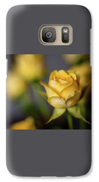 Galaxy Case featuring the photograph Delicate Yellow Rose  by Terry DeLuco