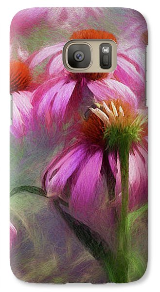 Galaxy Case featuring the digital art Delightful Coneflowers by Diane Schuster