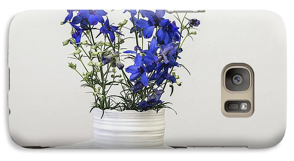 Galaxy Case featuring the photograph Delphinium Blue by Kim Hojnacki