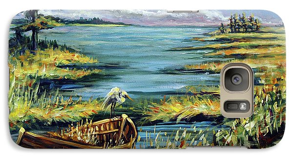 Galaxy Case featuring the painting Delta Derelict by Suzanne McKee