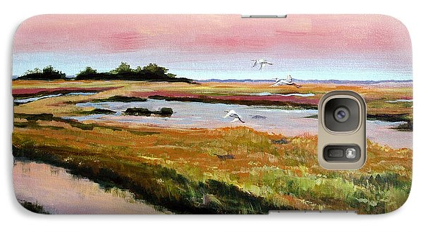 Galaxy Case featuring the painting Delta Sunrise by Suzanne McKee
