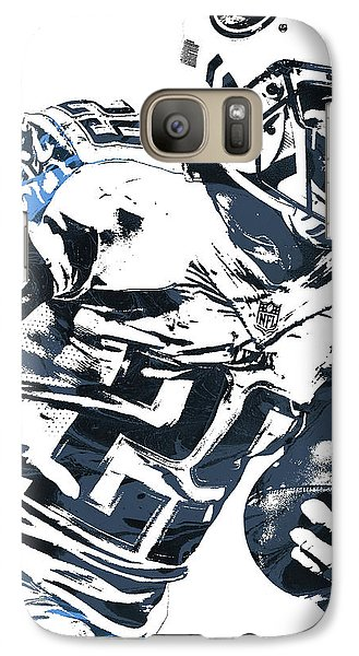 Galaxy Case featuring the mixed media Demarco Murray Tennessee Titans Pixel Art 2 by Joe Hamilton