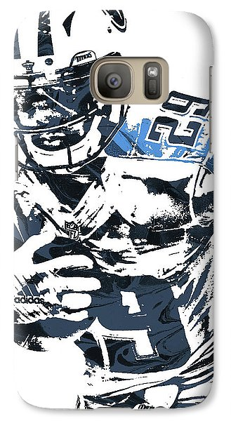 Galaxy Case featuring the mixed media Demarco Murray Tennessee Titans Pixel Art by Joe Hamilton