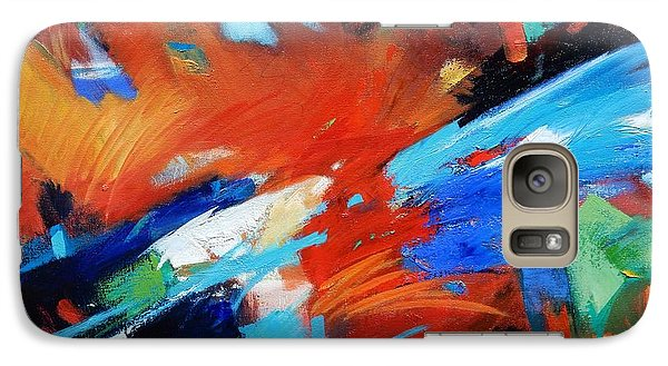 Galaxy Case featuring the painting Demo by Gary Coleman