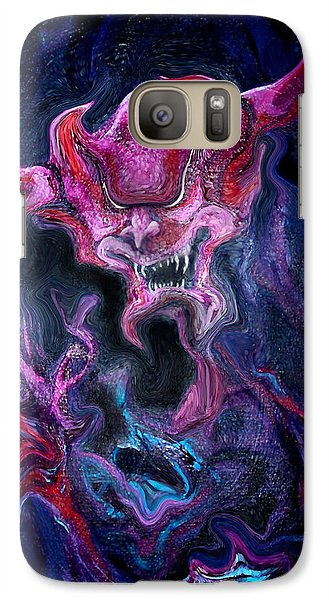 Galaxy Case featuring the painting Demon Fire by Kevin Middleton