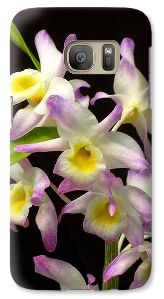 Galaxy Case featuring the photograph Dendrobium Orchid by Alfred Ng
