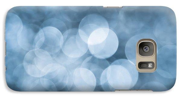 Galaxy Case featuring the photograph Denim Blue Bokeh by Jan Bickerton