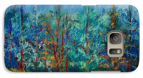 Galaxy Case featuring the painting Dense Forest by Karin Eisermann