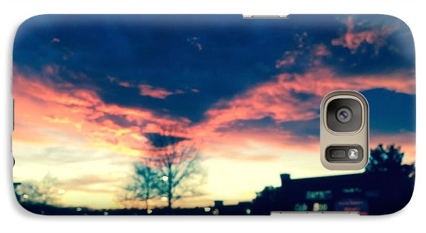 Galaxy Case featuring the painting Dense Sunset by Angela Annas