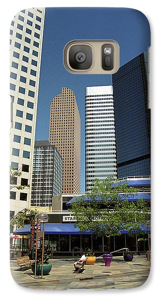 Galaxy Case featuring the photograph Denver Architecture by Frank Romeo