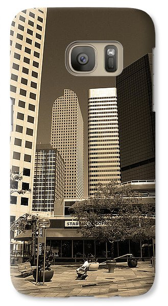 Galaxy Case featuring the photograph Denver Architecture Sepia by Frank Romeo