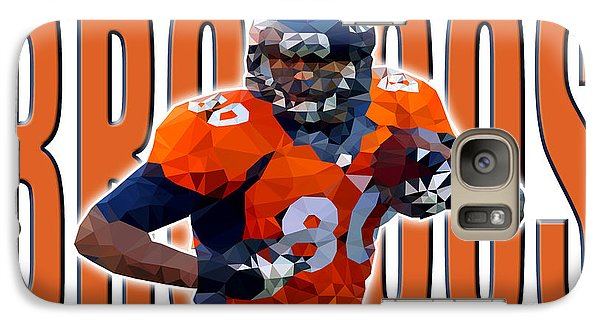 Galaxy Case featuring the digital art Denver Broncos by Stephen Younts