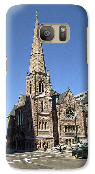 Galaxy Case featuring the photograph Denver Downtown Church by Frank Romeo