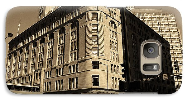 Galaxy Case featuring the photograph Denver Downtown Sepia by Frank Romeo