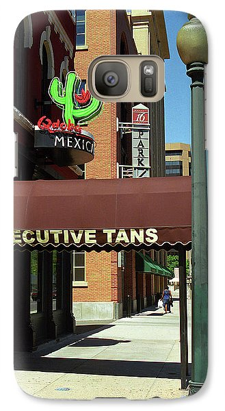 Galaxy Case featuring the photograph Denver Downtown Storefront by Frank Romeo