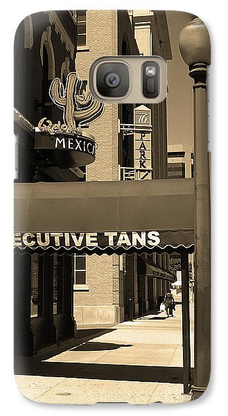 Galaxy Case featuring the photograph Denver Downtown Storefront Sepia by Frank Romeo