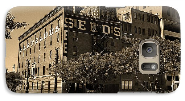 Galaxy Case featuring the photograph Denver Downtown Warehouse Sepia by Frank Romeo