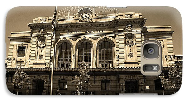 Galaxy Case featuring the photograph Denver - Union Station Sepia 5 by Frank Romeo