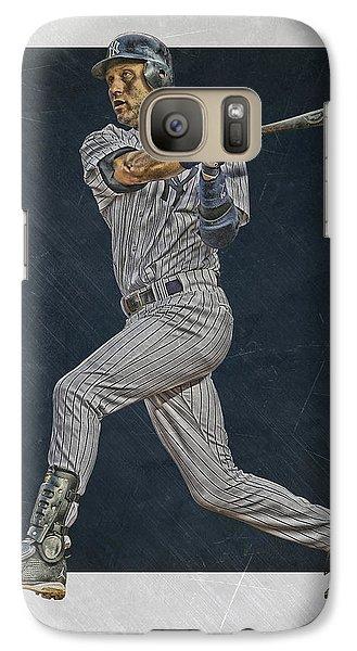 Derek Jeter New York Yankees Art 2 Galaxy S7 Case by Joe Hamilton