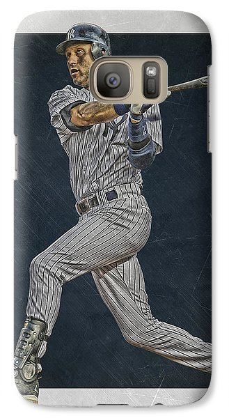 Derek Jeter New York Yankees Art 2 Galaxy Case by Joe Hamilton